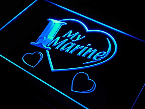 ADVPRO Cartel Luminoso j925-b I Love My Marine Navy Military ...