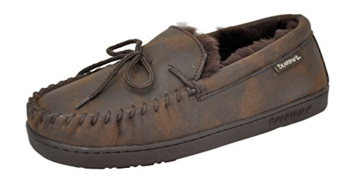 BEARPAW Men's Moc II Moccasin Slipper, Chocolate Smooth, 9 D(M) US ()