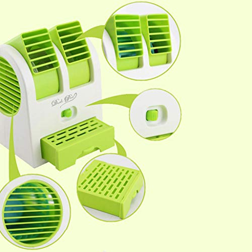 Picnic mat Clearance , Mini Cooler USB Cooling Fan Air Conditioning Fan Car Small Air Conditioner by Little Story (Green) ()