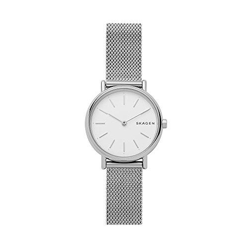 Skagen Women's Signatur Japanese-Quartz Watch with Stainless-Steel Strap, Silver, 14 (Model: SKW2692) (Skagen Ladies Mesh)