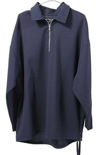 リレー基礎衝動(ウエストシー) WESTSEA 開襟シャツ オープンカラー ハーフジップ メンズ