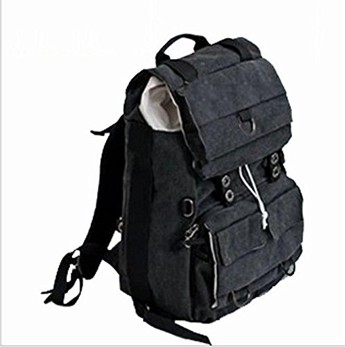 Z&HXsacchetto di spalla casuale impermeabile moda multifunzionale Fotografia borse fotocamera reflex , black