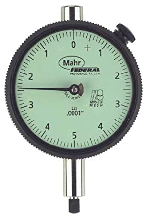 """Mahr Federal 2014699 AGD 2 Dial Indicator, 0.500"""" Range x 0.001"""", 28I QN, Lug Back, Jeweled with Rev Counter"""