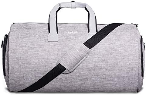 Bolsa de Lona Y Portatrajes 2en1   Bolsillo para Laptop, Caja de Regalo +Etiqueta de Equipaje   Bolsa de Fin de Semana para Traje, Bolsa de Viaje, ...