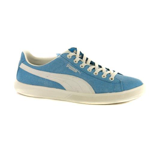 Puma Archive Lite Low Washed Leinwand Blau Retro Herren Sneakers