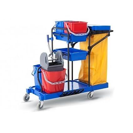 Carro de limpieza multifunción completo CLIMPRO. Carro de limpieza profesional COMPLETO con doble cubo con