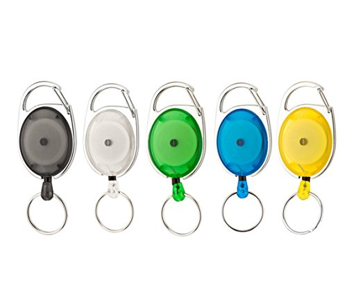 Different Translucent Retractable Keychain Plastic
