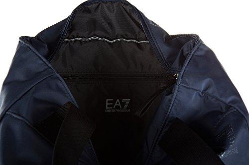 Emporio Armani EA7 borsa donna a mano shopping nuova originale train eagle blu