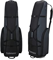 TurnWay Padded Foldable Golf Travel Bag, Heavy Duty 1800D Polyester Oxford Golf Club Bag Waterproof Golf Carry