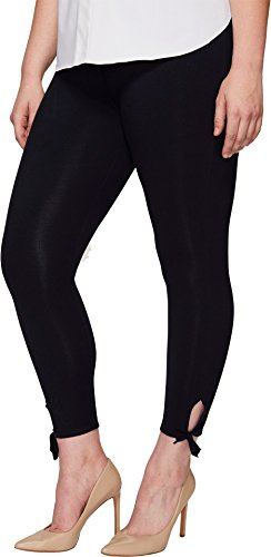 Lysse Women's Plus Size Tie Cotton Crop Midnight Pants (Waist Crop Roll Pant)