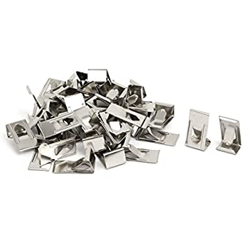 uxcell 26mmx14mm Picture Photo Frame Metal Spring Turn Clip Hanger Siver Tone 40pcs