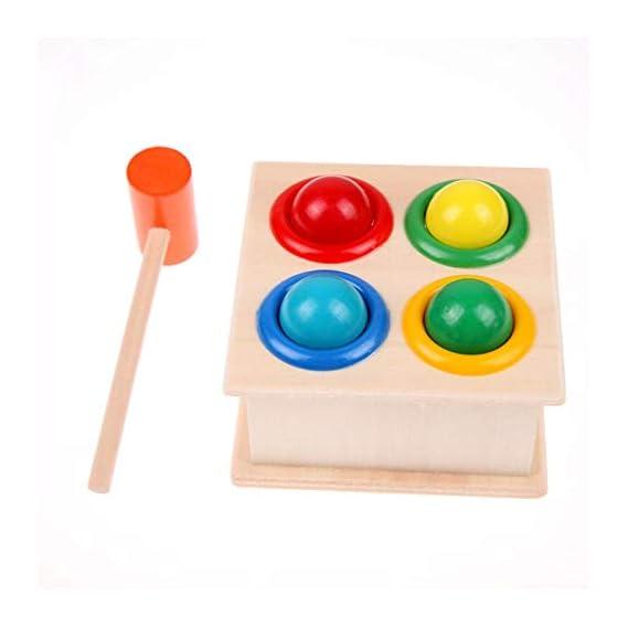 Trexee Wooden Educational Playing Hamster Game/Hammering Ball/Hammer Box Toys for Kids & Children