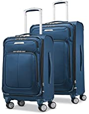 Samsonite Solyte DLX Softside Expandable Luggage with Spinner Wheels, Mediterranean Blue, 2-Piece Set (20/25)