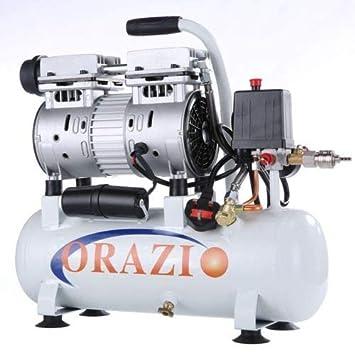 241183E Compresor de aire de tipo silencioso 65DB 600W 9L para el garaje móvil, clínica dental: Amazon.es: Bricolaje y herramientas