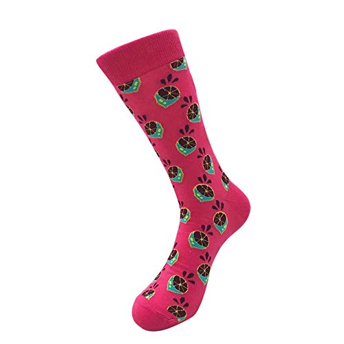 Unisex Printed Stockings, Sacow Women Men Fashion Fruits Printing Cotton Socks Colorful Casual Tube Socks (E) (Snowman Unisex)