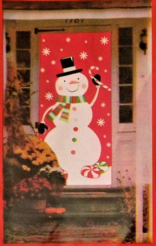 Christmas Door Cover Snowman 30