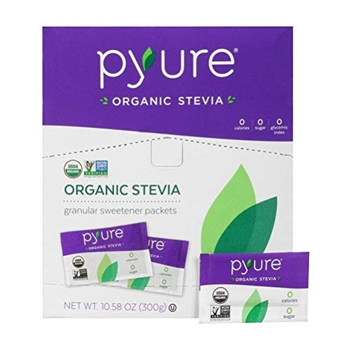 Organic Stevia Sweetener Packets, 0 Calorie, Sugar Substitute, 300Count by Pyure (Image #4)