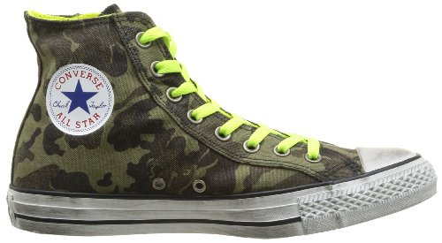 Hi Star All Green Sneaker Canvas Cm Zip Side yellow adulto Unisex Distressed N Converse nFfExwzqdn