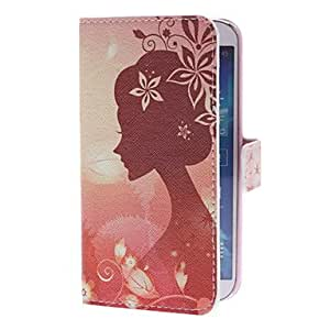 Goddess of Flowers Pattern Full Body Case with Card Slot for Samsung Galaxy S4 I9500