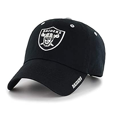 MISC Black NFL Oakland Raiders Hat Sports Football Baseball Cap Embroidered Team Logo Athletic Games Adjustable Cap/Hat for Boys Kids Unisex Fan Gift Stylish Easy Strap Closure Quality Cotton Fabric