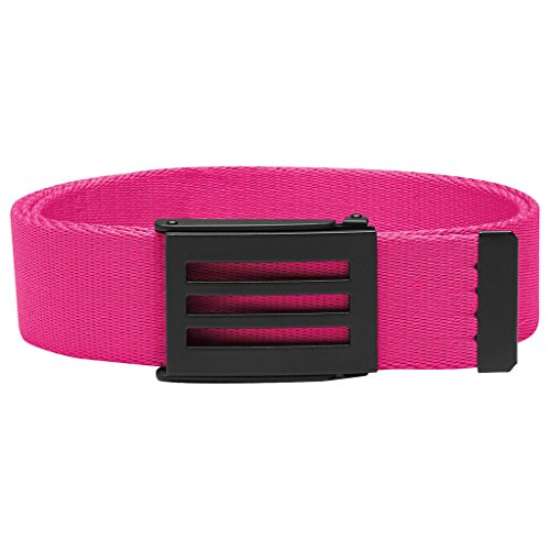 [Adidas Golf 2017 Performance Mens Golf Funky Webbing Belt - One Size Shock Pink] (Adidas Sport Performance Buckle)