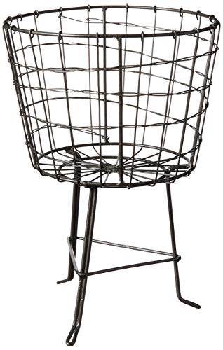 Creative Co-Op Round Wire Basket on on Stand, Grey ()