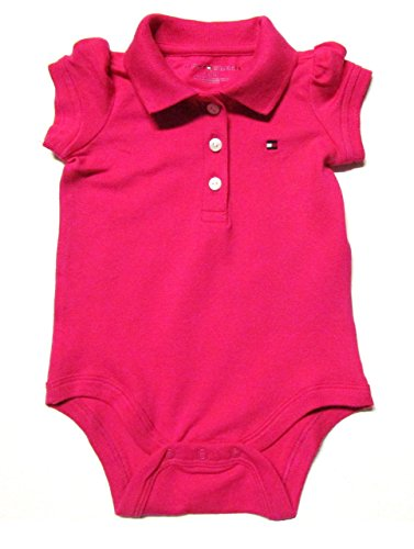 Tommy Hilfiger Baby Girls' Bodysuit, Playwear (3-6 Months, Hot Pink)