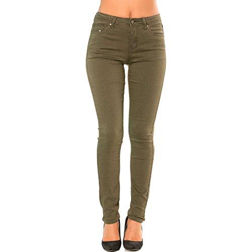 Miss Wear Line Pantalon Jeans Slim Kaki