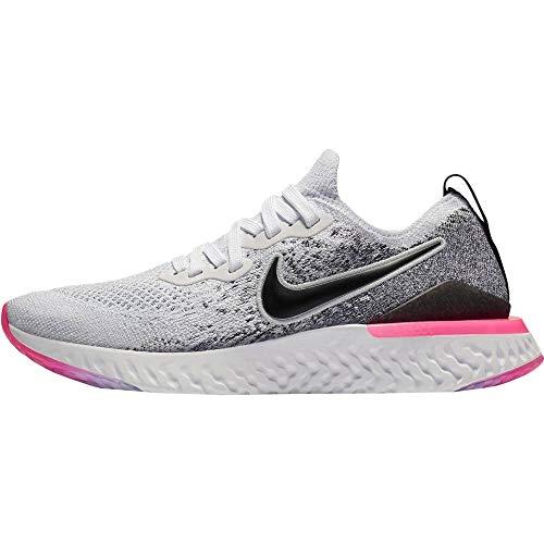 Nike Epic React Flyknit 2 Women's Running Shoe White/Black-Hyper Pink-Blue Tint 10.0