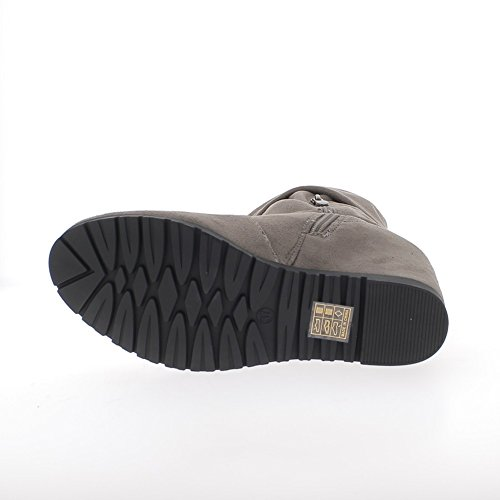 ChaussMoi Caliente offset esposada botas taupe 8cm con tacón de Strass