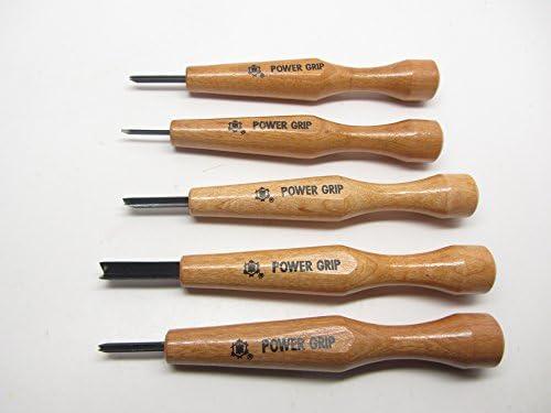 Japanese Power Grip V & U Chisel Tool Set Best for Wood