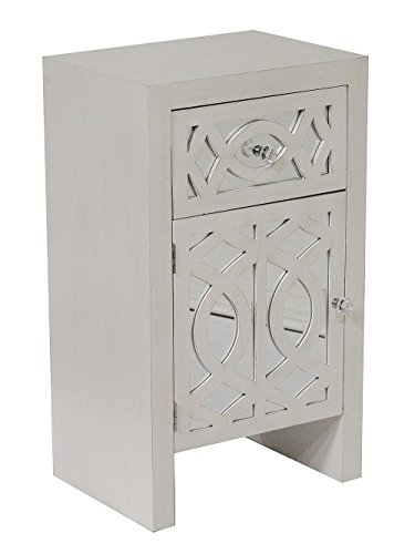Heather Ann Creations Modern Accent Storage Cabinet with Door and Top Drawer, 18