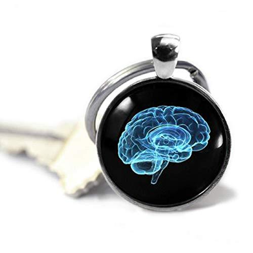 Neurology Brain Keyring Science Keychain Human Brain Glass Pendant Psychology Anatomy Jewellery