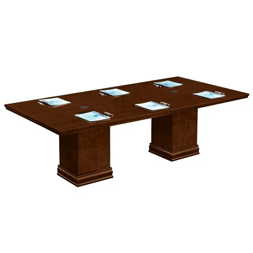 National Office Furniture Cherry Desk (Deep Walnut 8' Conference Table - NBF Signature Series Extendable Tables Collection)