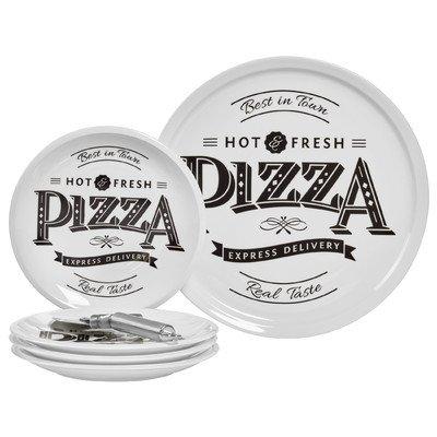 Best in Town Pizza 6 Piece Porcelain Platter Set ()