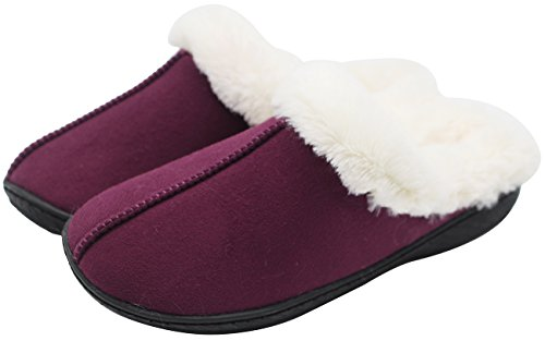 Luxehome Womens Cozy Fleece Plush House Slipper1-01