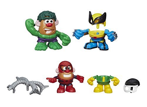Playskool Mr. Potato Head Marvel Mixable Mashable Heroes Set of 2 - Spider-man & Doc Ock and Hulk & Wolverine