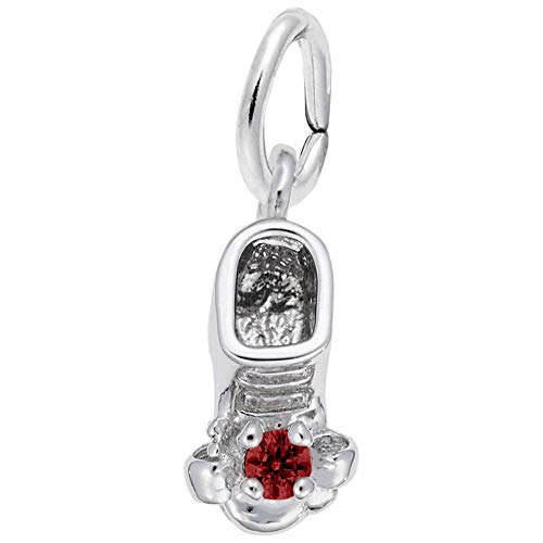- Rembrandt Charms, January Baby Bootie.925 Sterling Silver