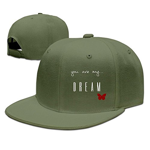 MaNeg You Are My Dream Unisex Fashion Cool Adjustable Snapback Baseball Cap Hat One Size - Online Prada Bags