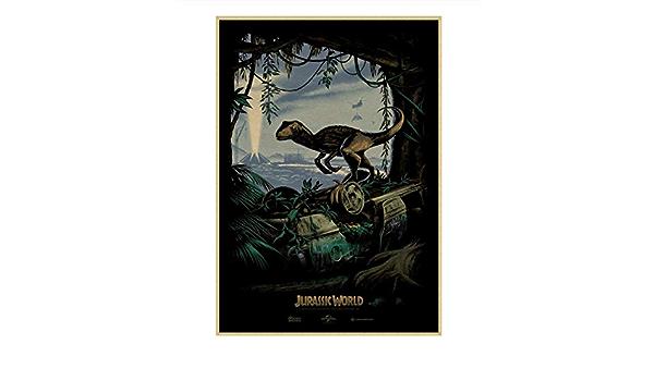 PCWDEDIAN Jurassic Park Coated Posters Dinosaurio Papel Adhesivos De Pared para Habitaciones De Ni/ños Dormitorio Decoraci/ón del Hogar Sin Marco C216 50x70Cm