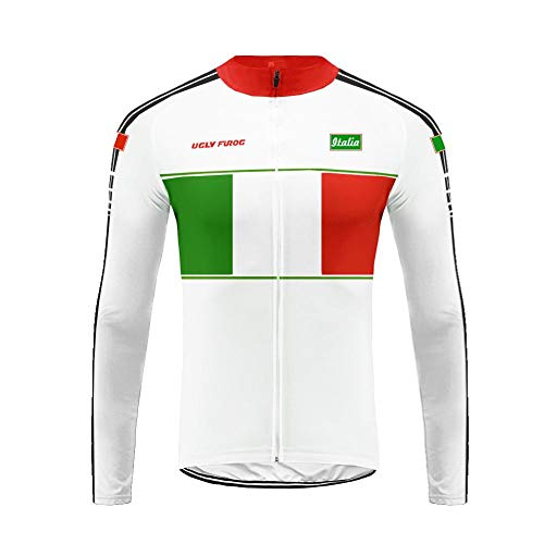Uglyfrog Cycling Jersey, US/ES/CH/GER/CA/US National Flag Color Matching,Long Sleeve T-Shirts Men,Lightweight,Breathable,Comfortable with Quick Dry Tops MTB Mountain Team Bike Reflective Sportswear from Uglyfrog