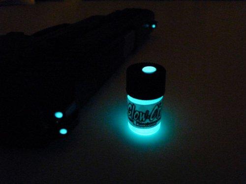 Glow On Aqua Color Super Phosphorescent Gun Sights Paint Import It All