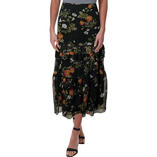 LAUREN RALPH LAUREN Womens Laucar Floral Print Peasant, Boho Skirt Green 16