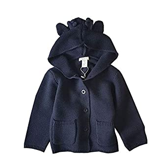 Happy childhood Toddler Boys Girls Solid Hoodie Knitted Reindeer Cardigan Sweater Christmas Cotton Coat Outwear
