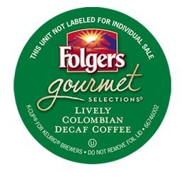 Folgers Lively Colombian Decaf Coffee 48 Count