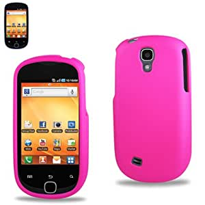 Hot Pink Hard Rubberized Case Cover For Samsung Gravity Smart T589