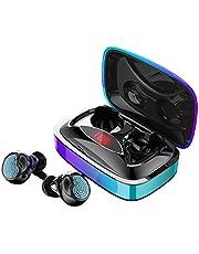 Auleset Mini True Stereo Trådlös Bluetooth 5.0 Smart Touch In-ear Hörlurar Tung Bashörlurar - Tonad Svart