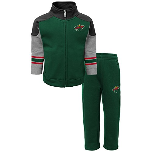 (Outerstuff NHL Minnesota Wild Children Boys Shutdown Jacket & Pant Set, 3T, Dragon)