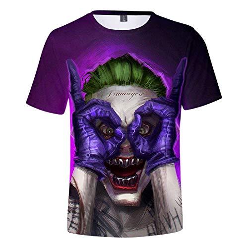Oxking Kids Child Girls and Boys Unisex Family Comedy Movie Summer 3D Graphic Print T-Shirt Joker Q2766J Kid 150(12)]()