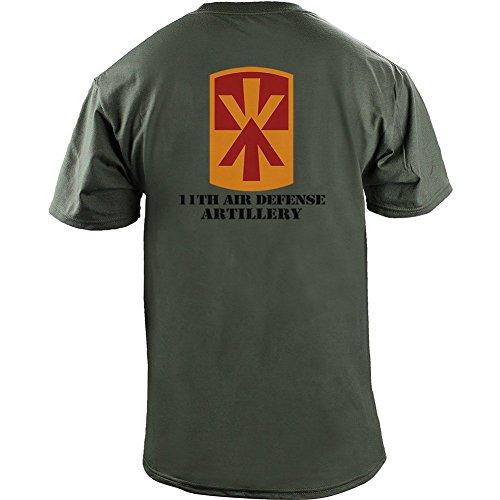 Army 11th Air Defense Artillery (ADA) Full Color Veteran T-Shirt (L, Green)